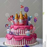 Fancy Birthday Cakes Birthday Cake Stock Image Image Of Frosting Frosted 69701463