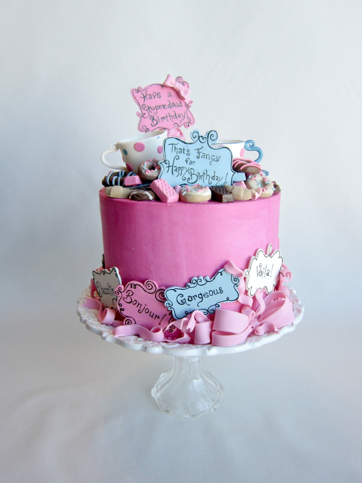 Fancy Birthday Cakes Delectable Cakes Most Stupendous Fancy Nancy Birthday Cake