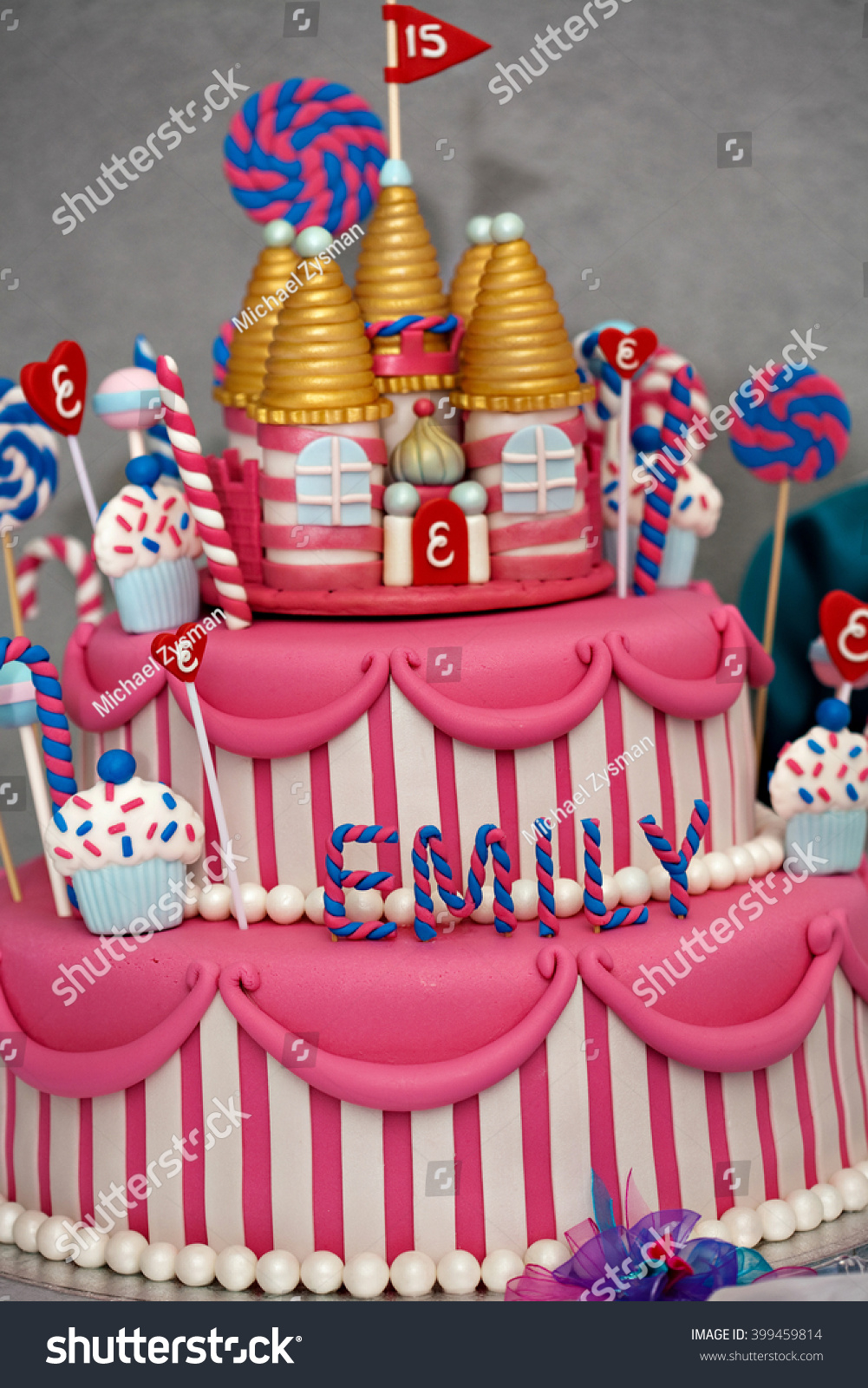 Fancy Birthday Cakes Fancy Birthday Cake Candyland Theme Three Stock Photo Edit Now