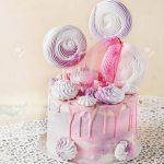 Fancy Birthday Cakes Pink And Violet Fancy Birthday Cake Decorated With Pink Caramel