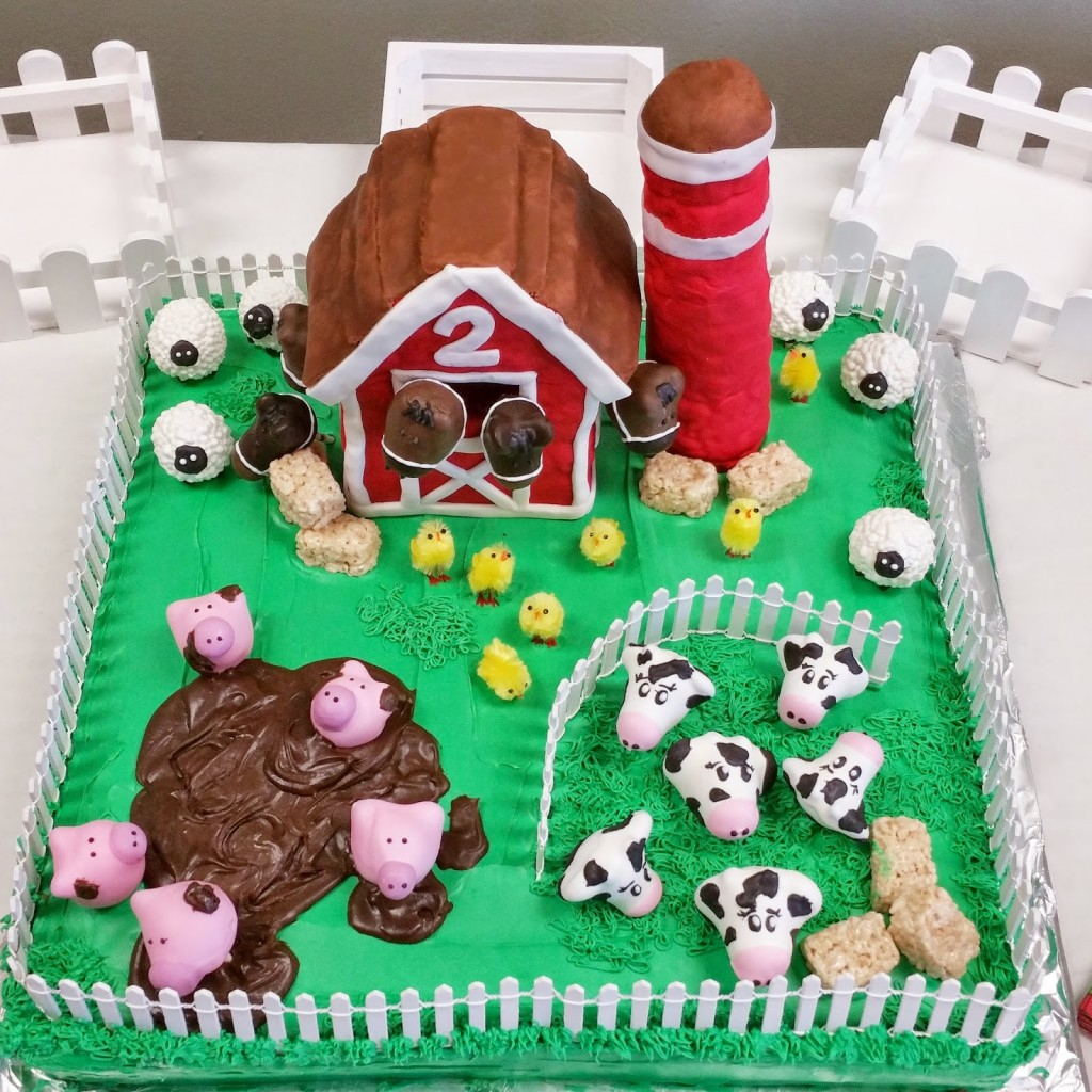 Farm Birthday Cake 12 Farm Animal Themed Girls Birthday Cakes Photo Farm Theme