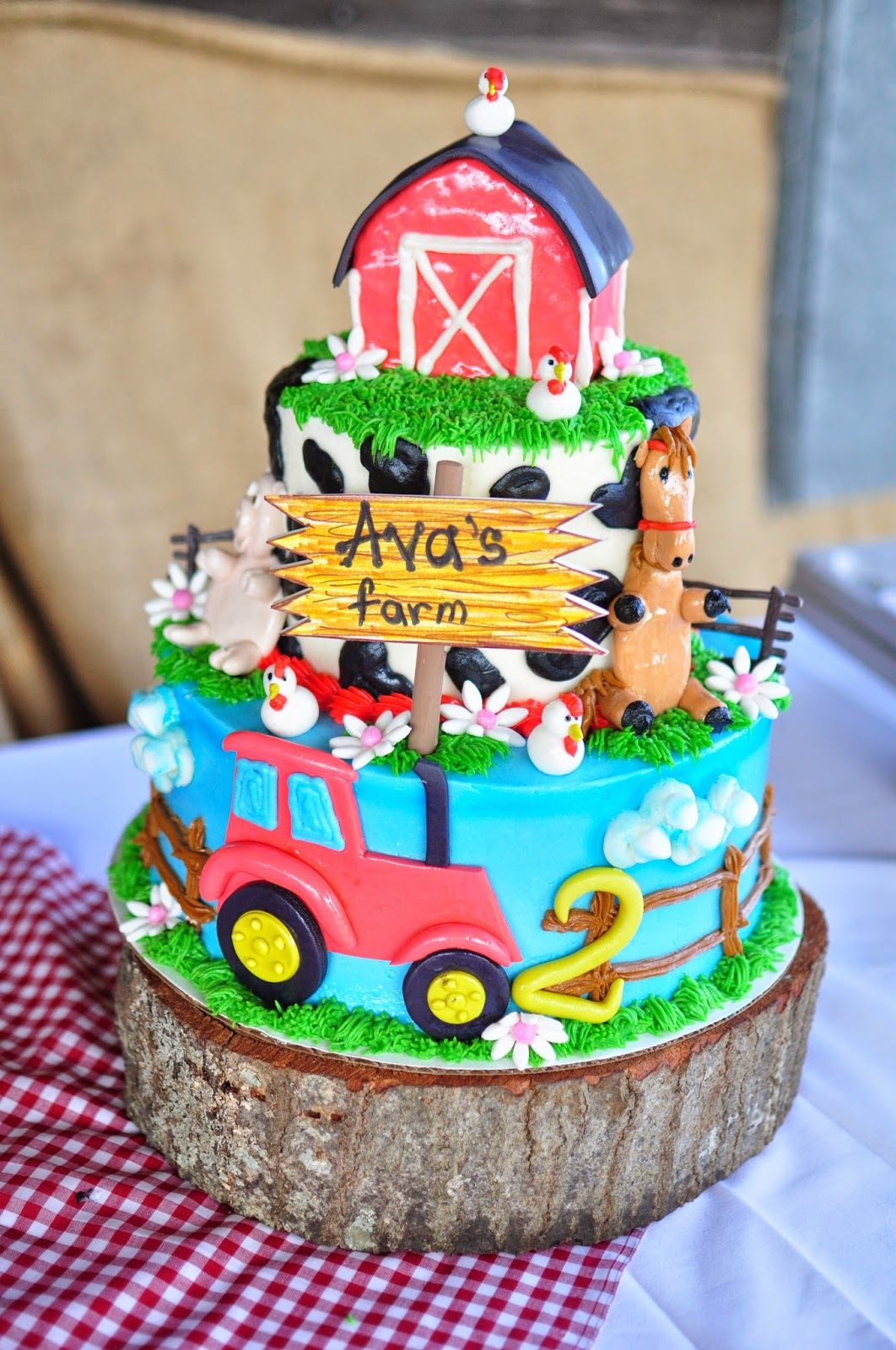 Farm Birthday Cake Barnyard Bash Birthday Cake Kid Party Ideas Birthday 2nd