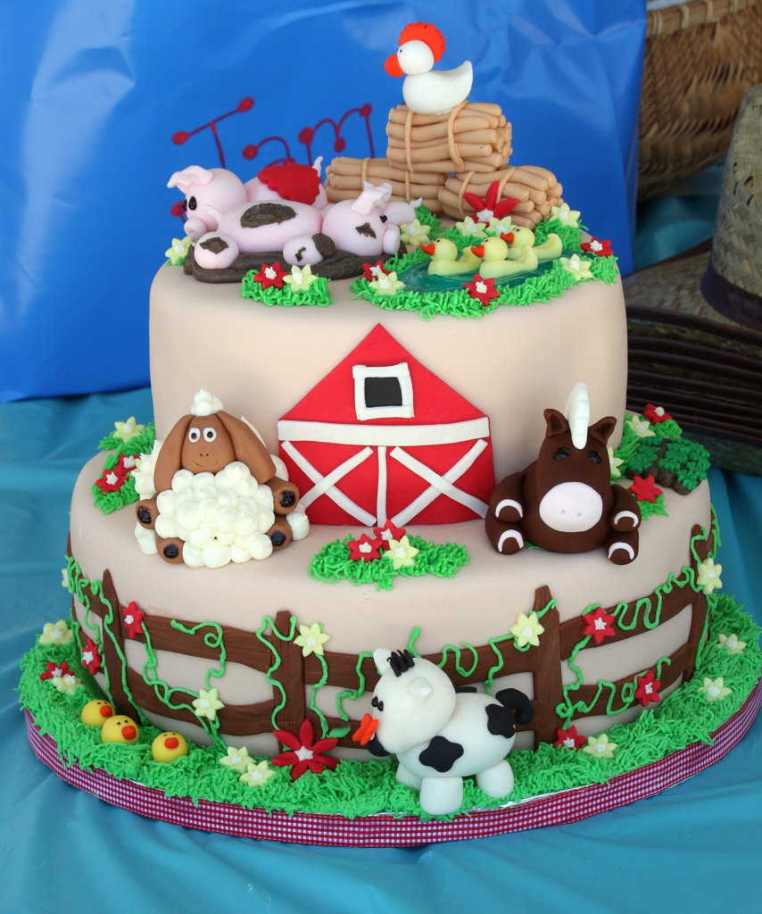 Farm Birthday Cake Farm Animal Birthday Cake 2 Another View Christine Flickr