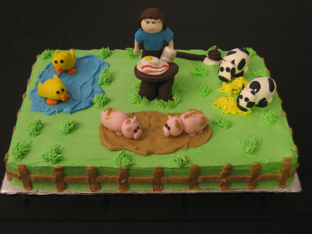 Farm Birthday Cake Farm Birthday Cake Diane Flickr