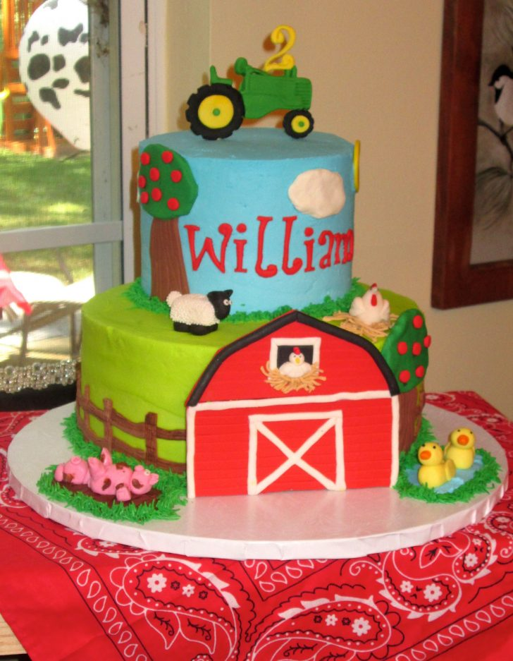 Farm Birthday Cake Farm Themed Birthday Cake Sandys Sweets Boys Cakes Birthday