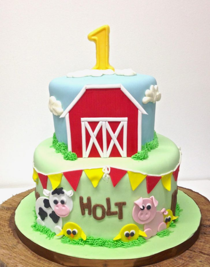 Farm Birthday Cake Nashville Sweets Barn Farm Animal Birthday Cake