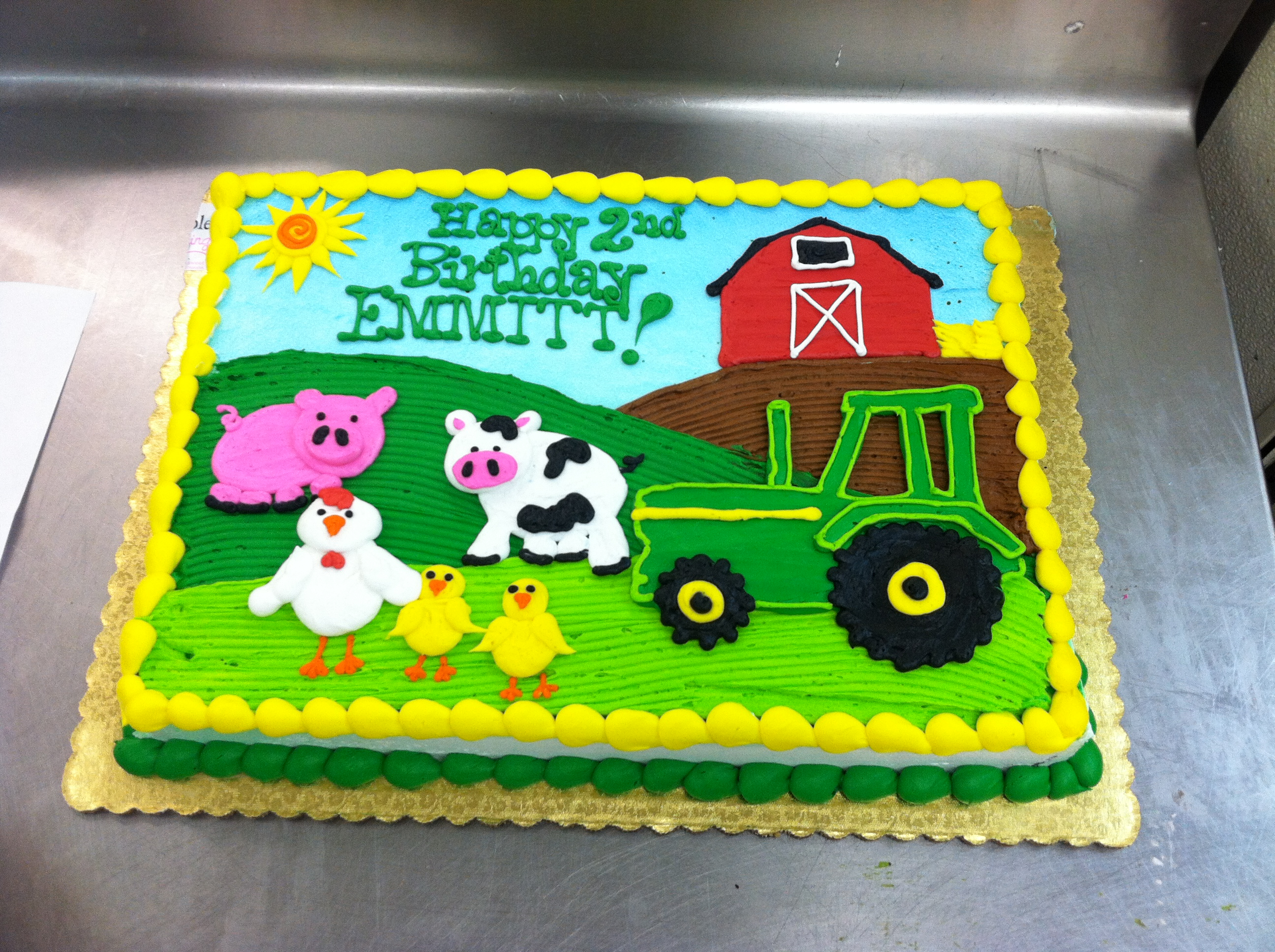 Farm Birthday Cake Old Mcdonald Had A Farm Cake Cake Recipes Creative Cakes Home