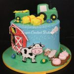 Farm Birthday Cake Sugar Coated Bakery Lowell Baking Everyday Better