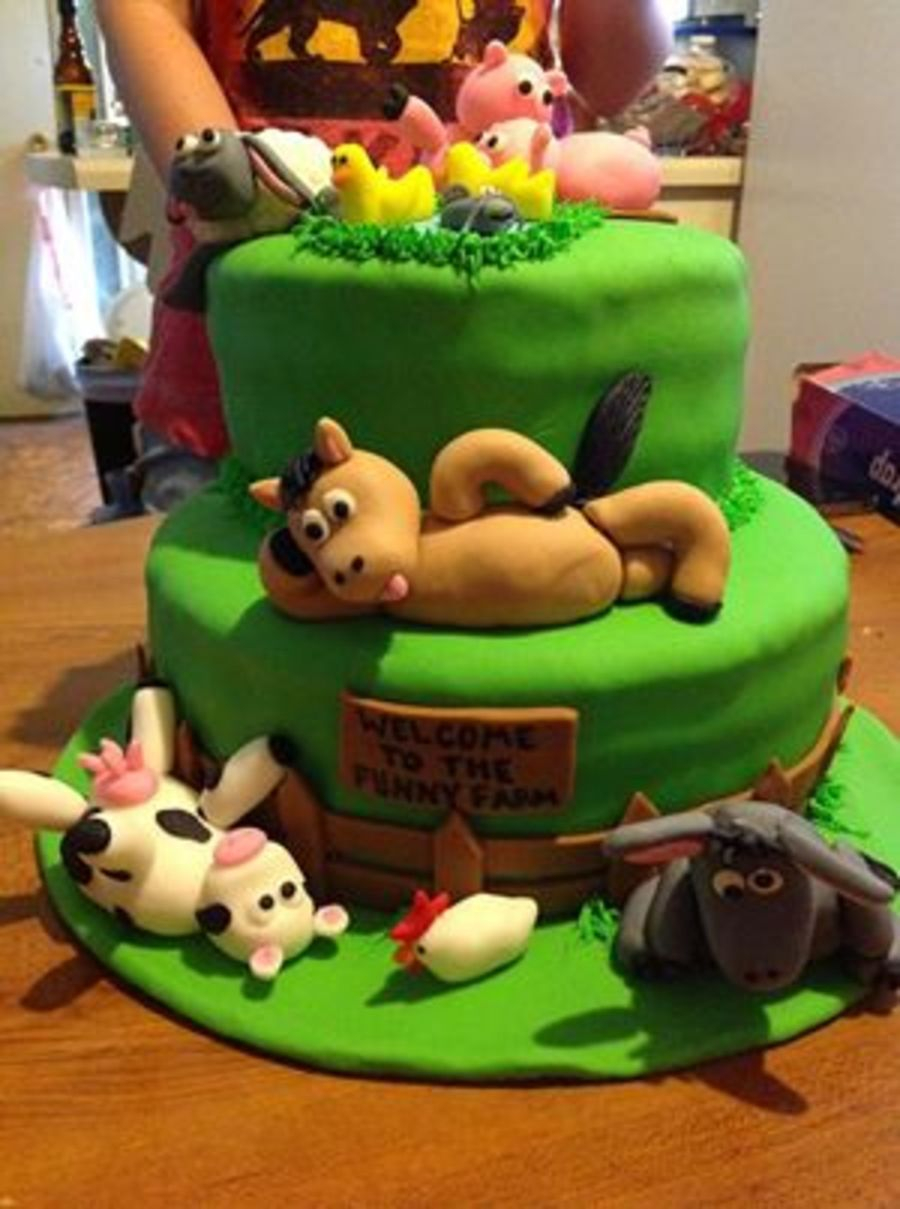 Farm Birthday Cake Welcome To The Funny Farm Birthday Cake Cakecentral