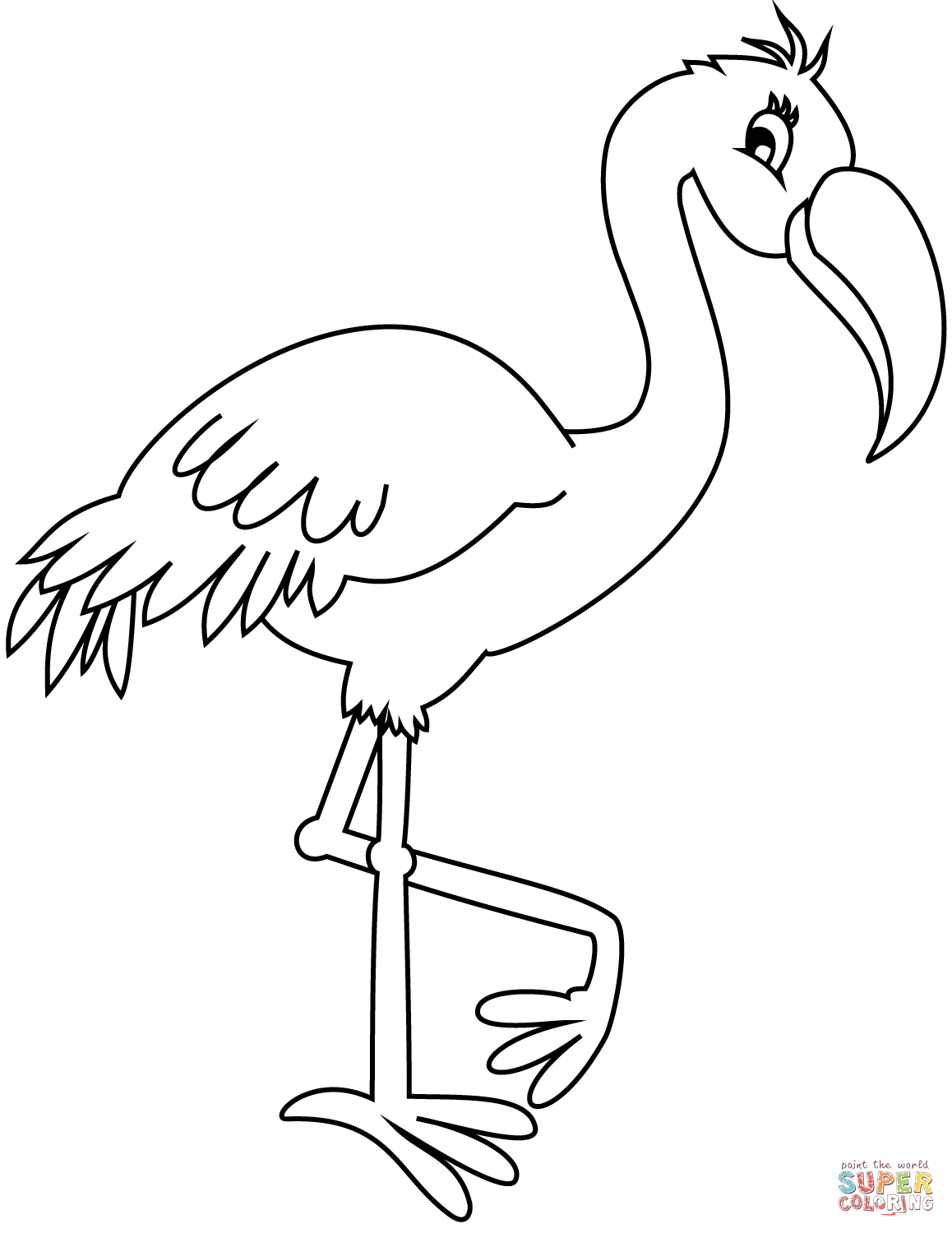 25+ Inspired Picture of Flamingo Coloring Pages ...