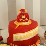 Flash Birthday Cake Flash Gordon And Marvel Avengers Cupcakes And Cake Bakealous