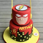 Flash Birthday Cake Marvel Flash Cake Cakes Pinterest Flash Cake Cake And