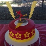 Flash Birthday Cake The Flash Super Hero Cake Flash Birthday Party Pinterest