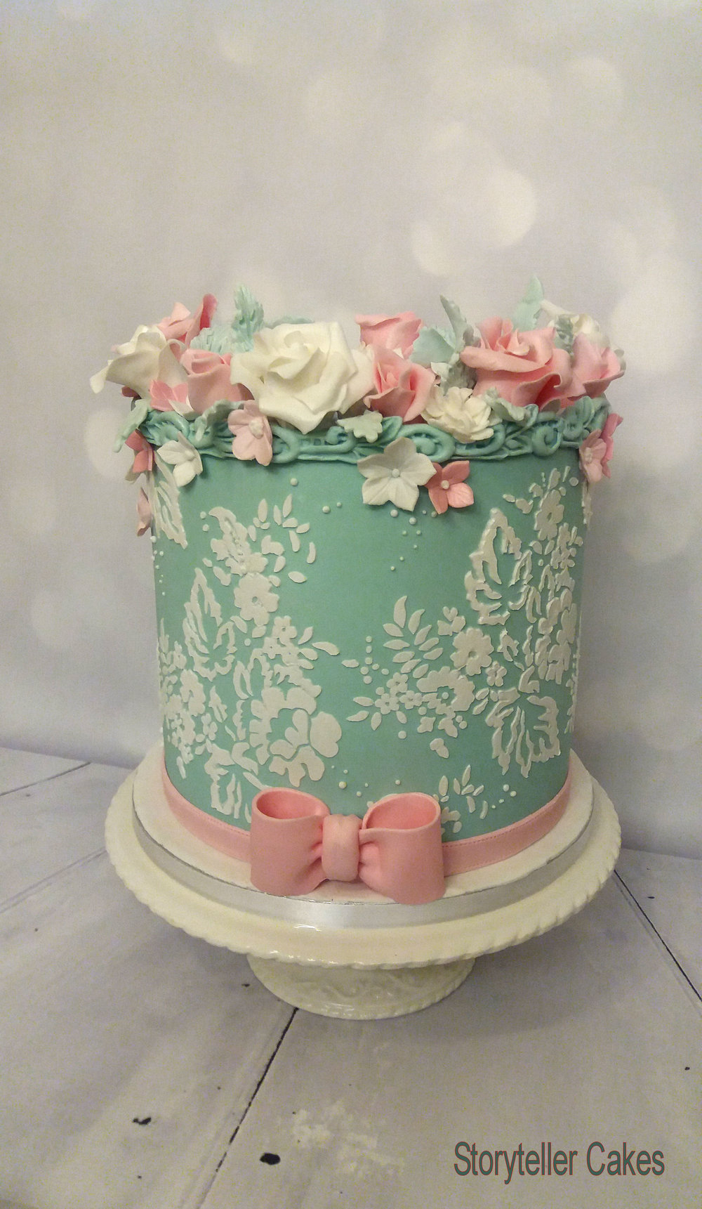 1000 X 1721 In 23 Exclusive Image Of Floral Birthday Cake