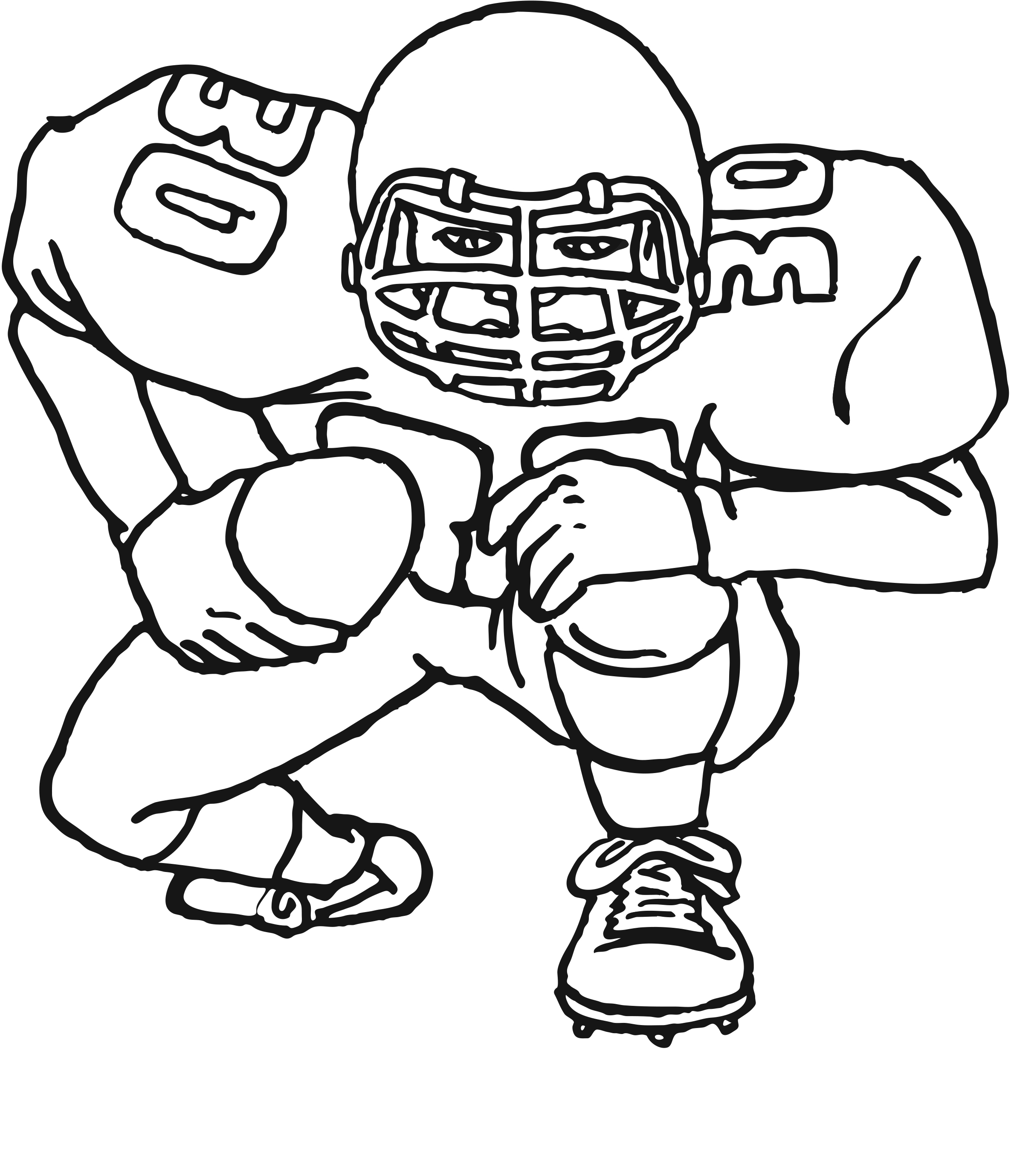 21+ Awesome Image of Football Coloring Pages