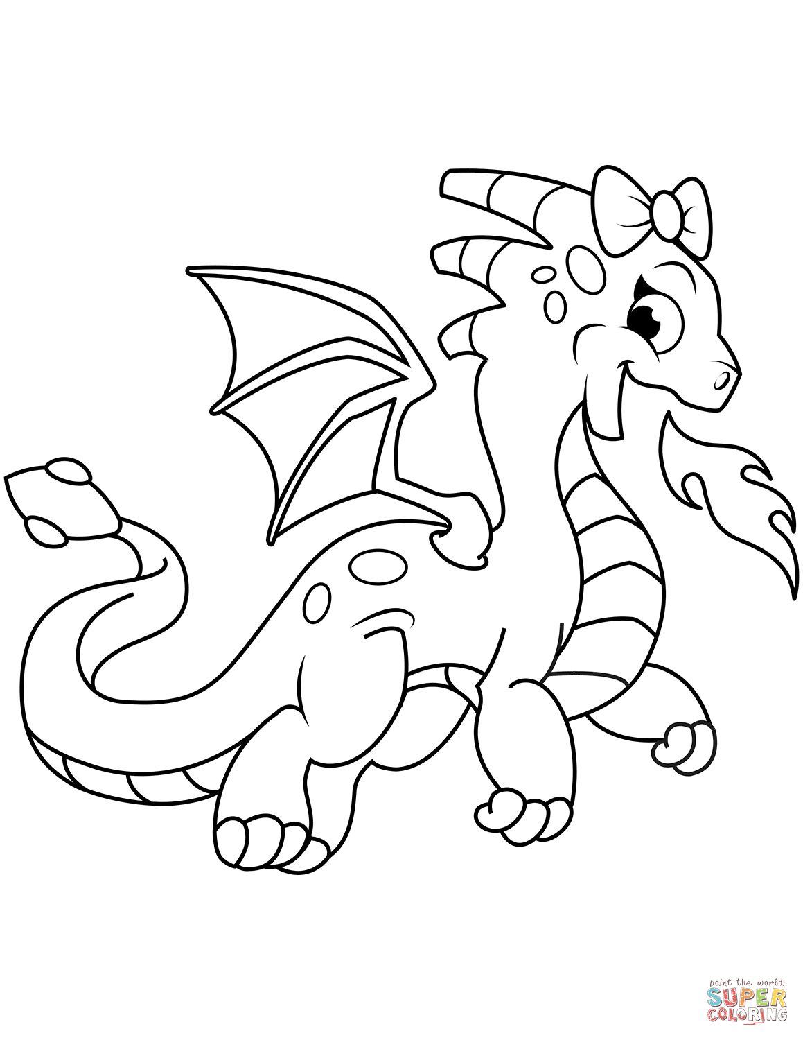 Great Image of Free Dragon Coloring Pages