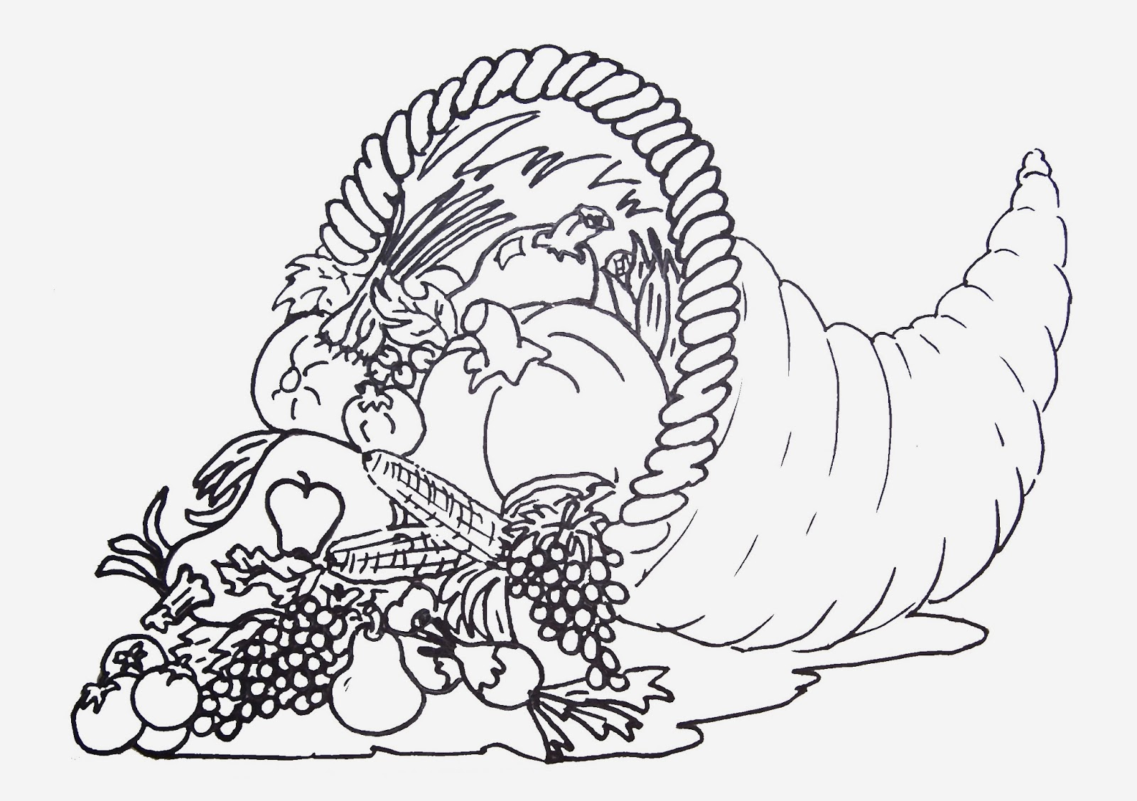 Free Printable Coloring Pages For Kids Cornucopia Thanksgiving Free Printable Coloring Pages 13