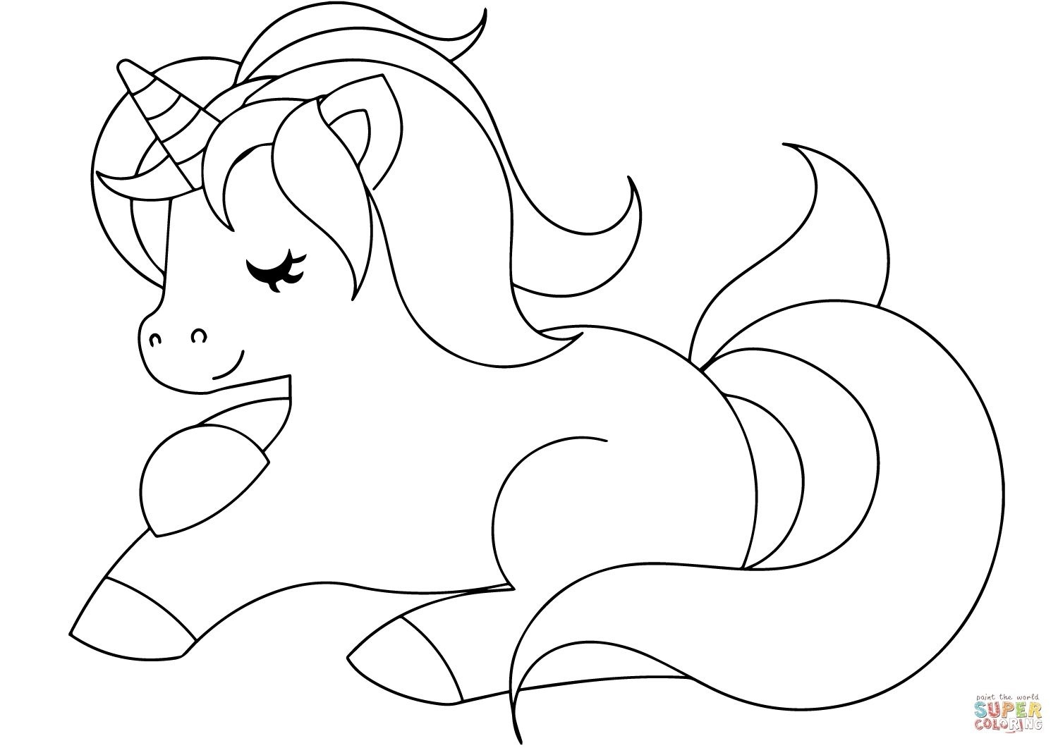 Free Printable Coloring Pages For Kids Cute Unicorn Coloring Page Free Printable Coloring Pages With