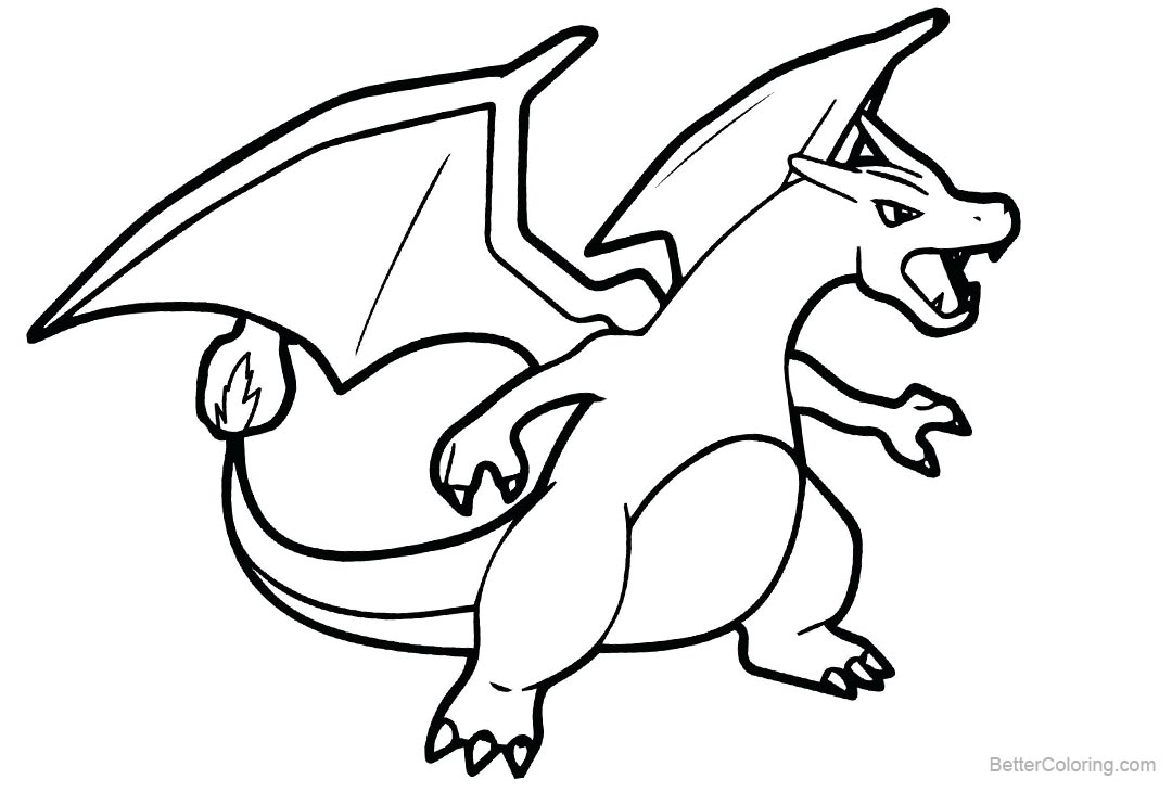 Free Printable Pokemon Coloring Pages Charizard Pokemon Coloring Page Free Printable Pages Inside