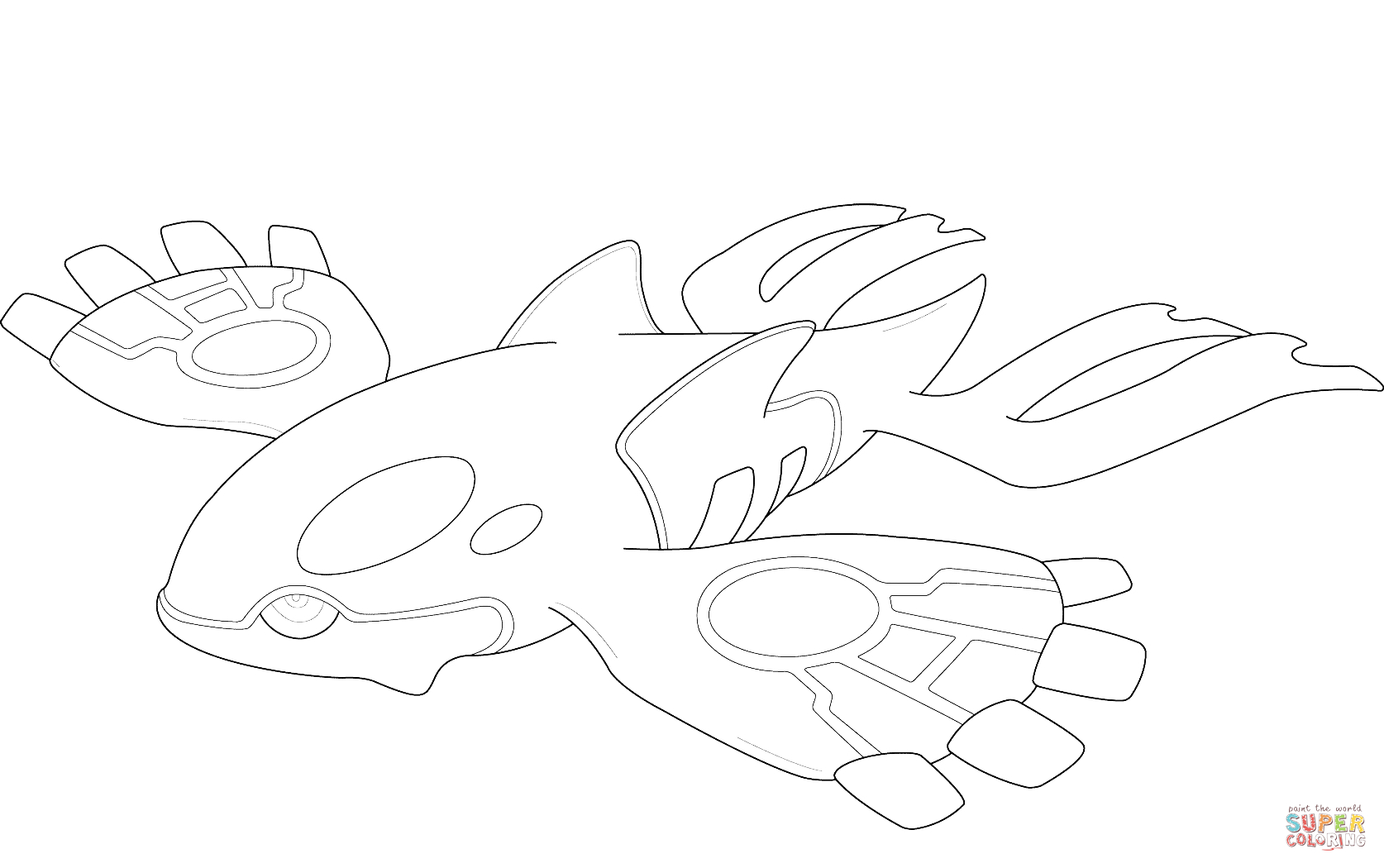 Free Printable Pokemon Coloring Pages Kyogre Pokemon Coloring Page Free Printable Pages And