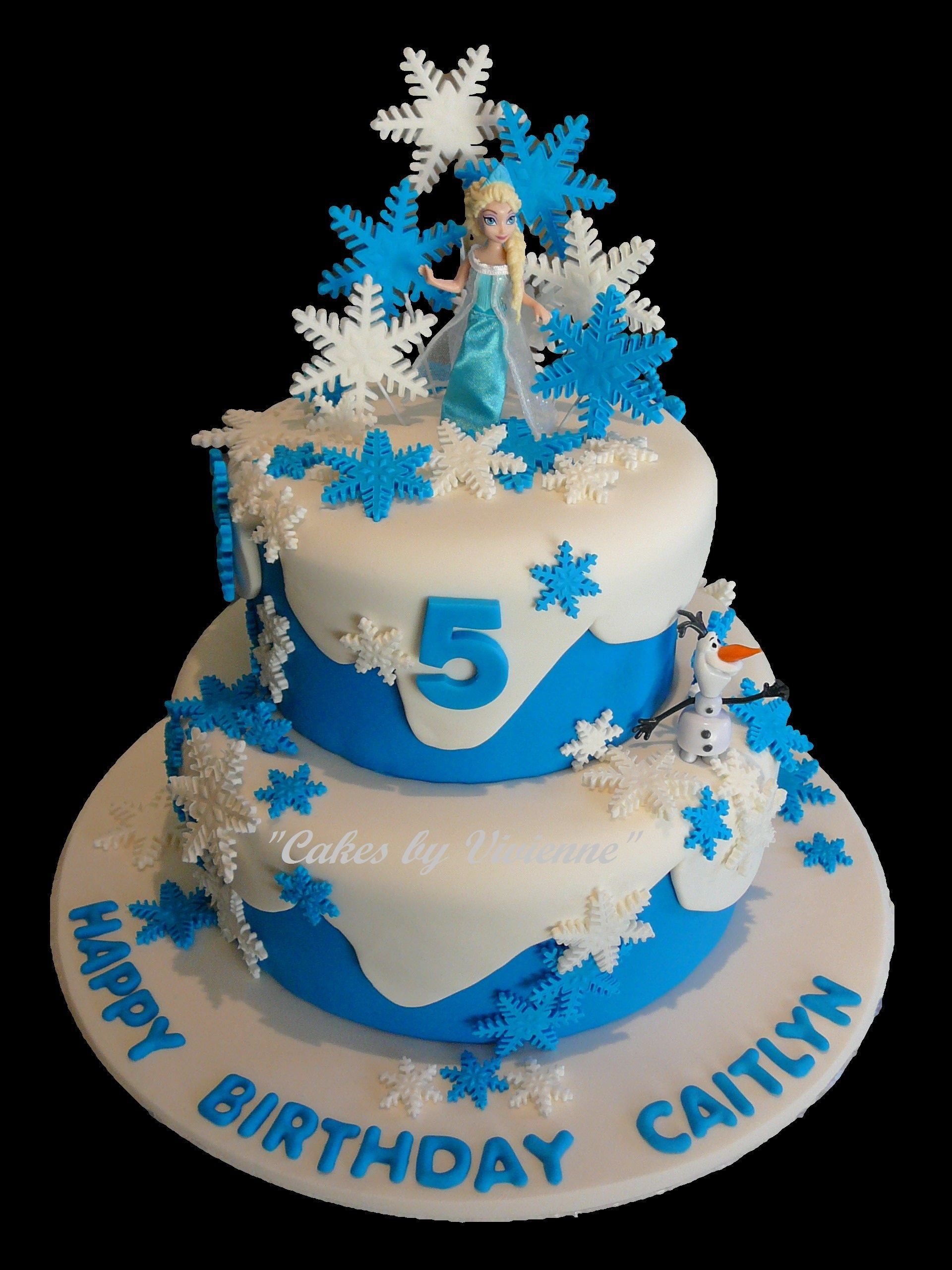 Frozen Themed Birthday Cake Frozen Themed Birthday Cake For A 5 Year Old Featuring Elsa Olaf