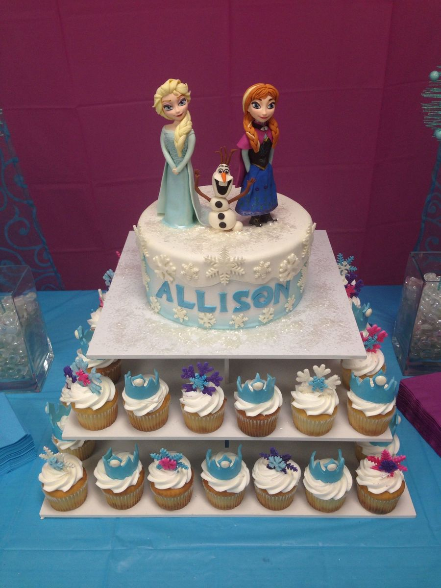Frozen Themed Birthday Cake Frozen Themed Birthday Cake With Fondant Characters Everything