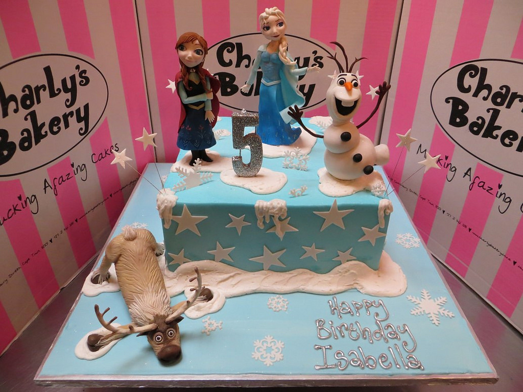 Frozen Themed Birthday Cakes Frozen Themed Birthday Cake Charlys Bakery Flickr