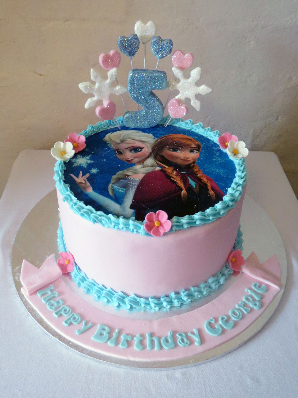 Frozen Themed Birthday Cakes Frozen Themed Birthday Cake Three Sweeties