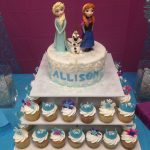 Frozen Themed Birthday Cakes Frozen Themed Birthday Cake With Fondant Characters Everything
