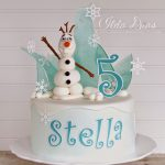 Frozen Themed Birthday Cakes I Love Doing All Things Crafty Frozen Themed Birthday Cake And Card