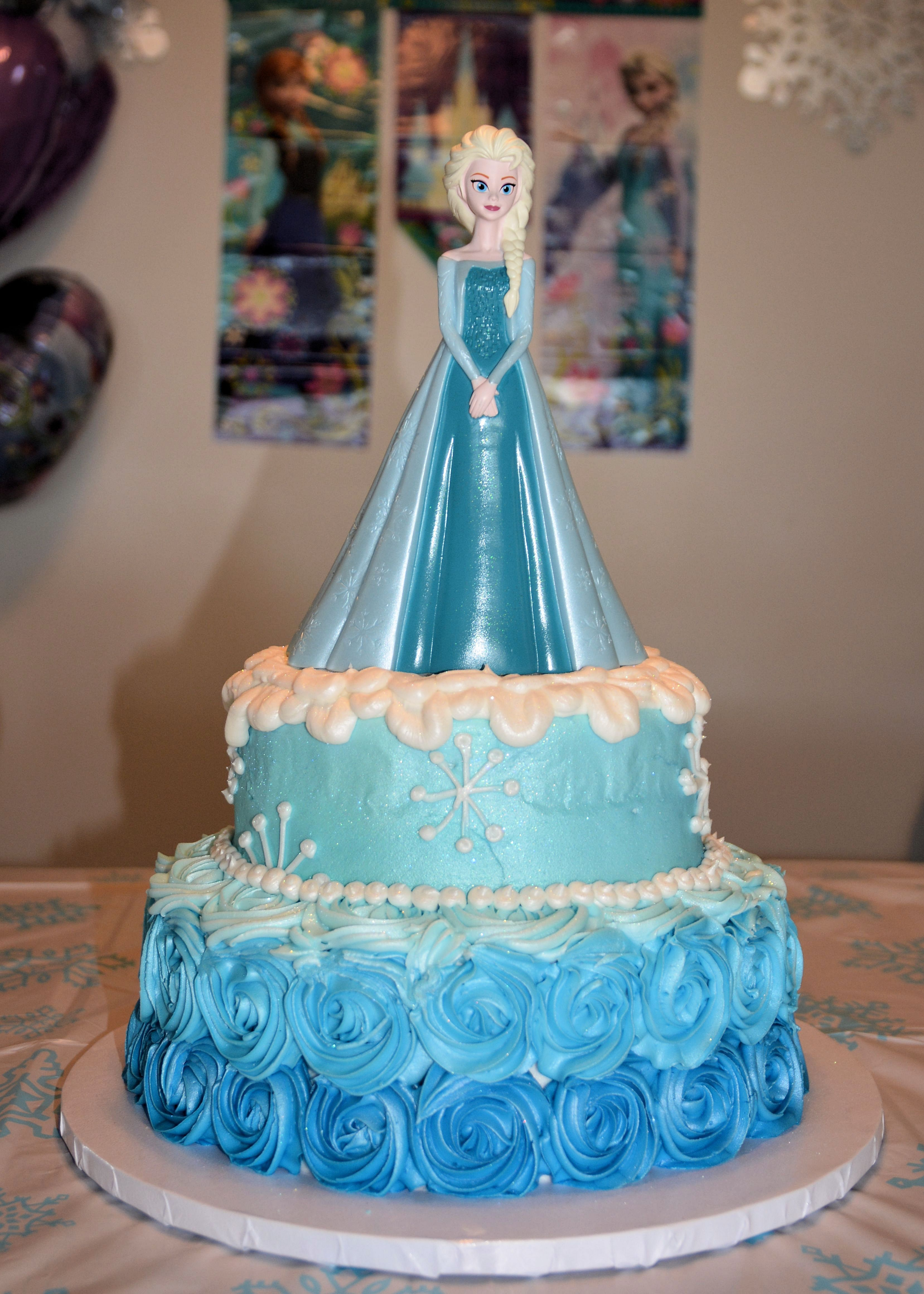 Frozen Themed Birthday Cakes Sephias 7th Birthday Party Elsa Cake Frozen Themed Party