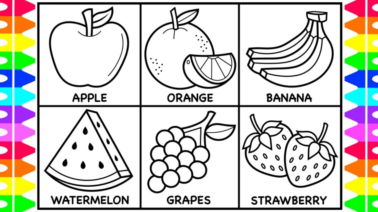 21+ Amazing Image of Fruit Coloring Pages