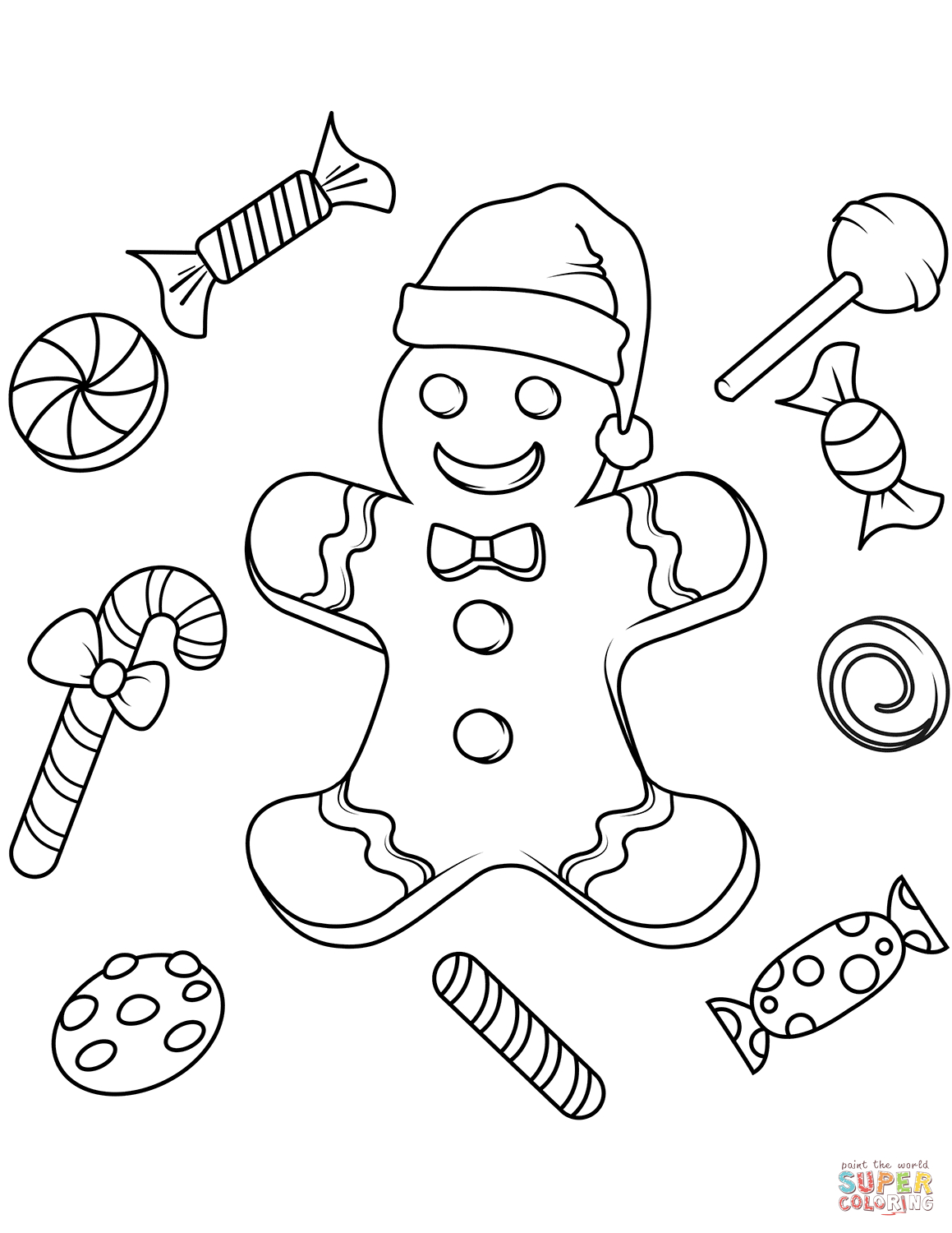 Gingerbread Coloring Pages Christmas Gingerbread Coloring Pages Free Coloring Pages