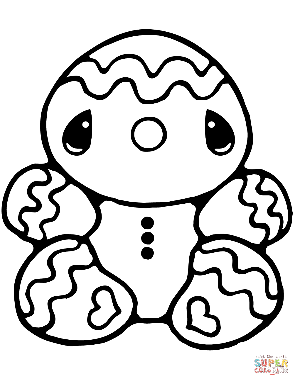 25+ Creative Picture of Gingerbread Coloring Pages
