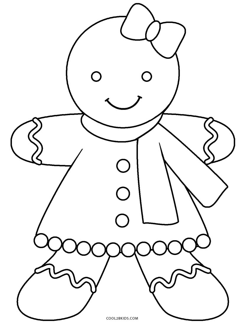 Gingerbread Coloring Pages Free Printable Gingerbread Man Coloring Pages For Kids Cool2bkids