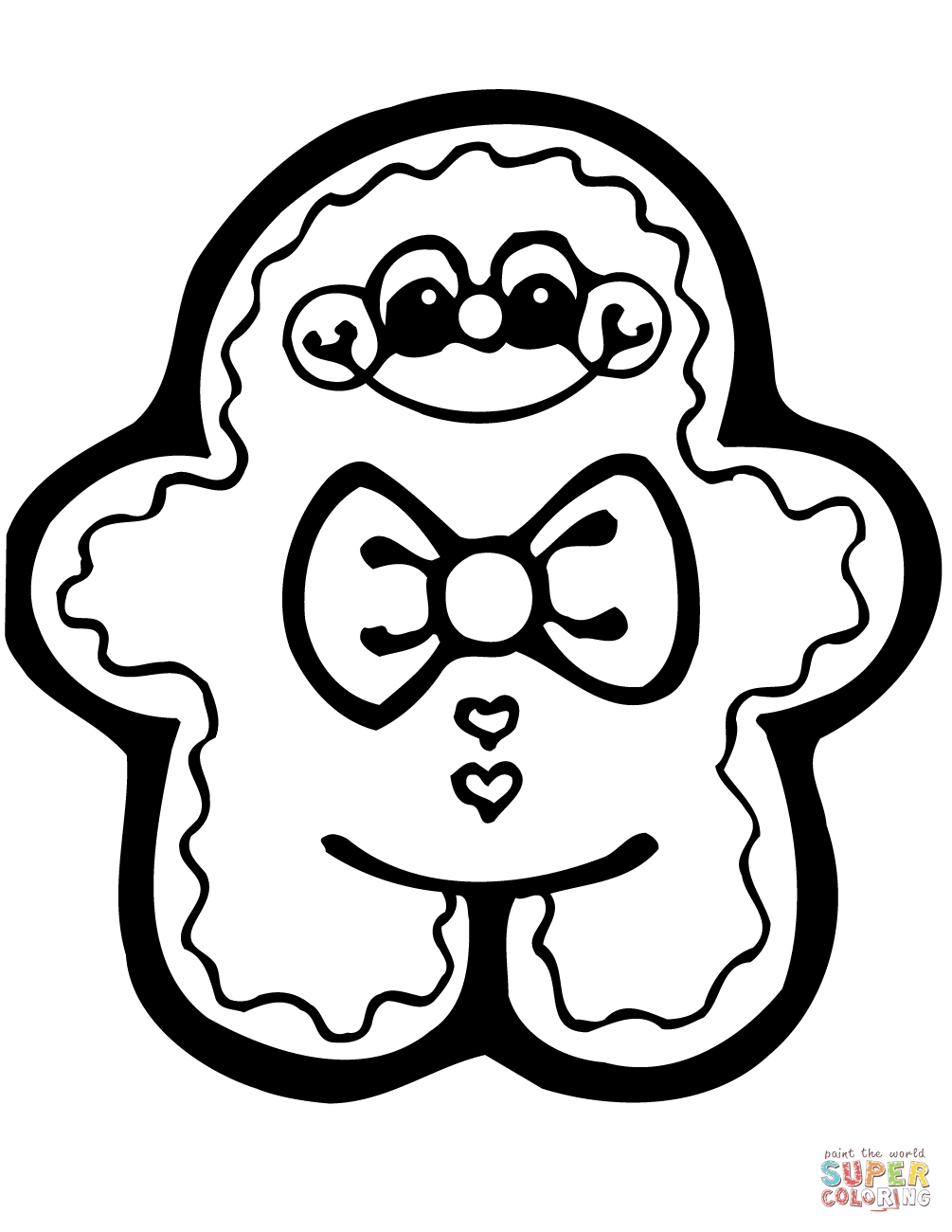 Gingerbread Coloring Pages Gingerbread Coloring Pages Free Download Best Gingerbread Coloring