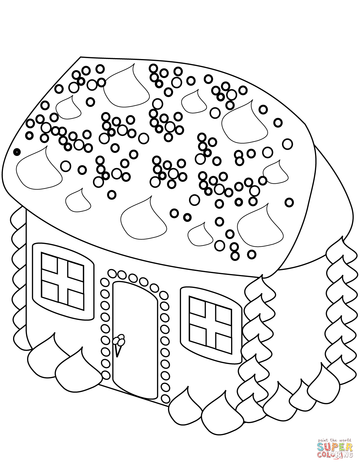 Gingerbread Coloring Pages Gingerbread House Coloring Page Free Printable Coloring Pages
