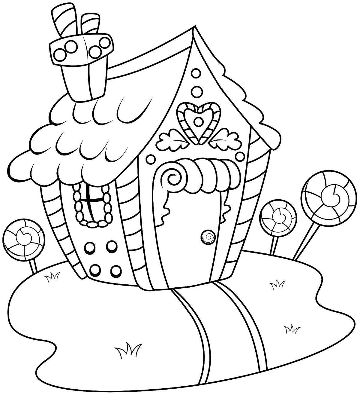 Gingerbread Coloring Pages Gingerbread House Coloring Pages Printable Coloring Activity