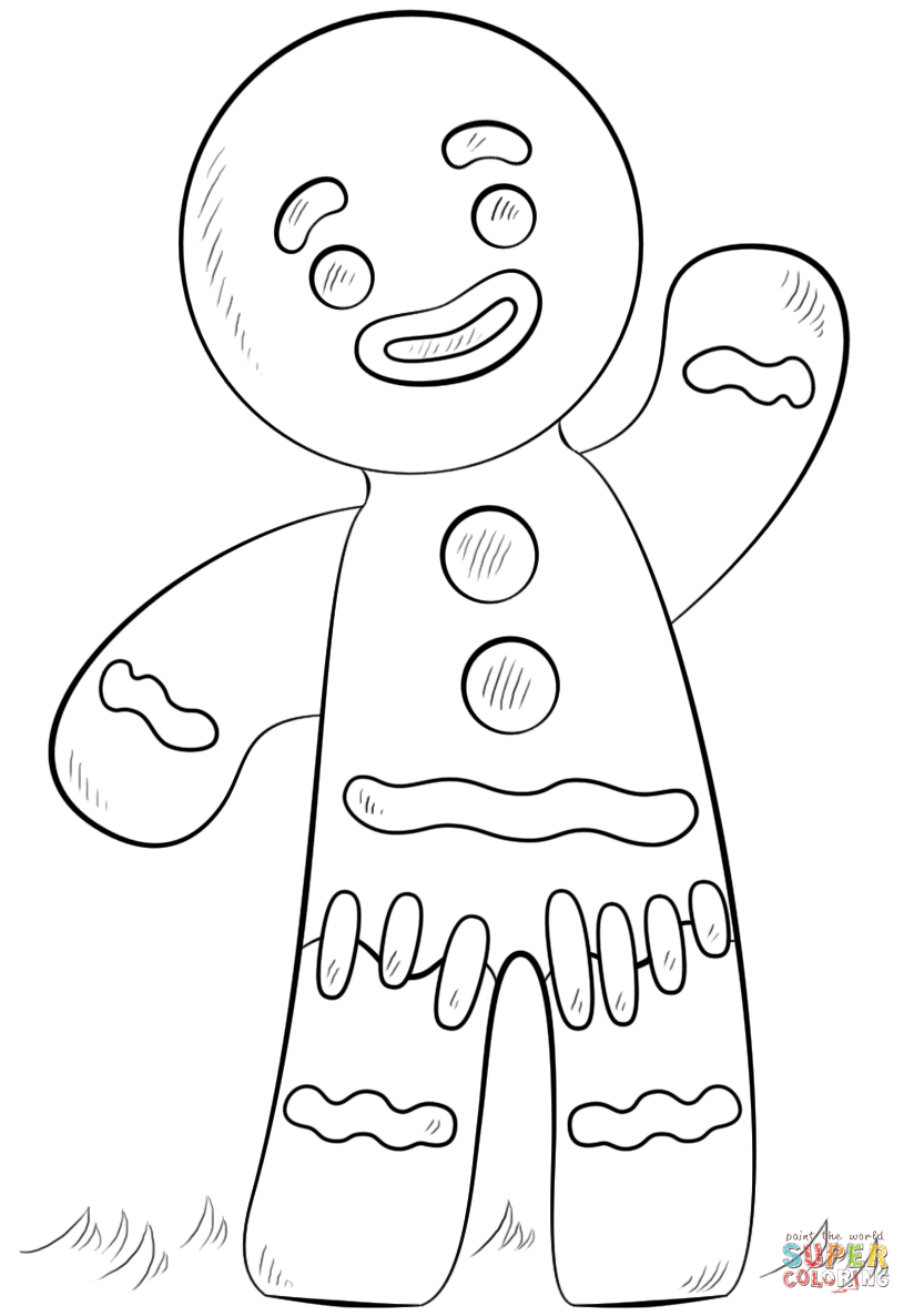 Gingerbread Coloring Pages Gingerbread Man Coloring Page Free Printable Coloring Pages