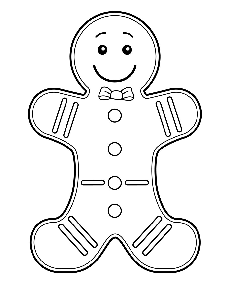 Gingerbread Coloring Pages Gingerbread Man Coloring Page Free Printable Gingerbread Man