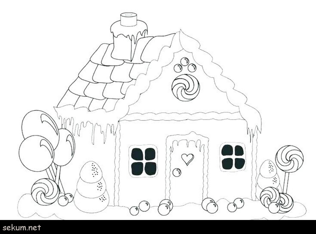Gingerbread Coloring Pages House Color Page Gingerbread House Coloring Page Gingerbread