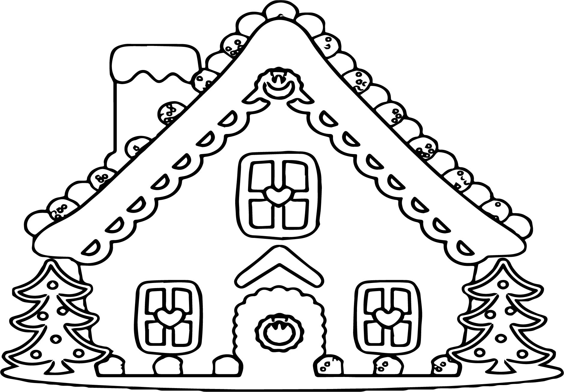 Gingerbread Coloring Pages Incredible Design Ideas Gingerbread House Coloring Pages Printable