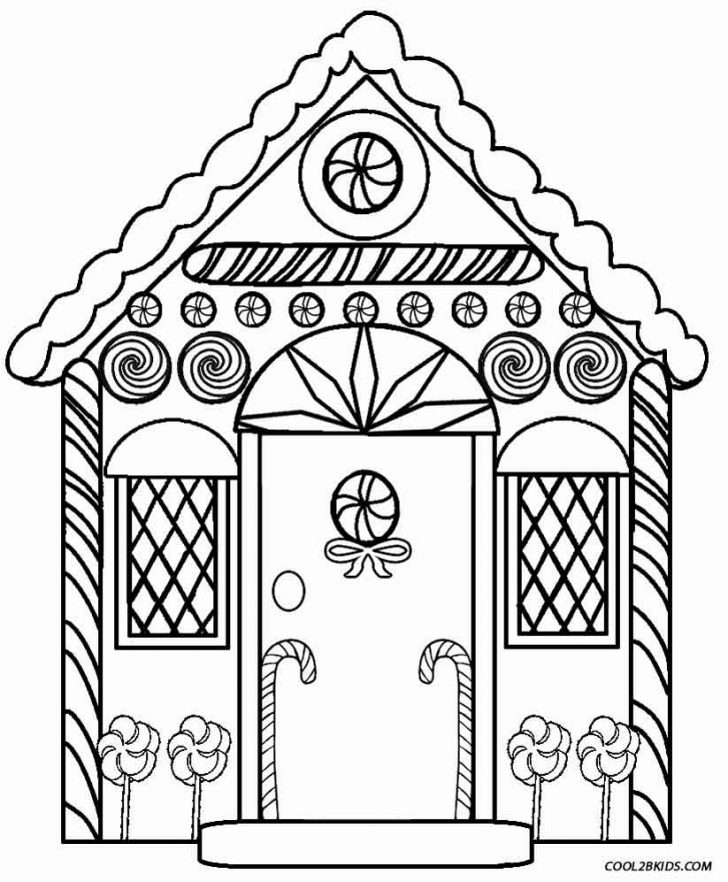 Gingerbread Coloring Pages Printable Gingerbread House Coloring Pages For Kids Cool2bkids