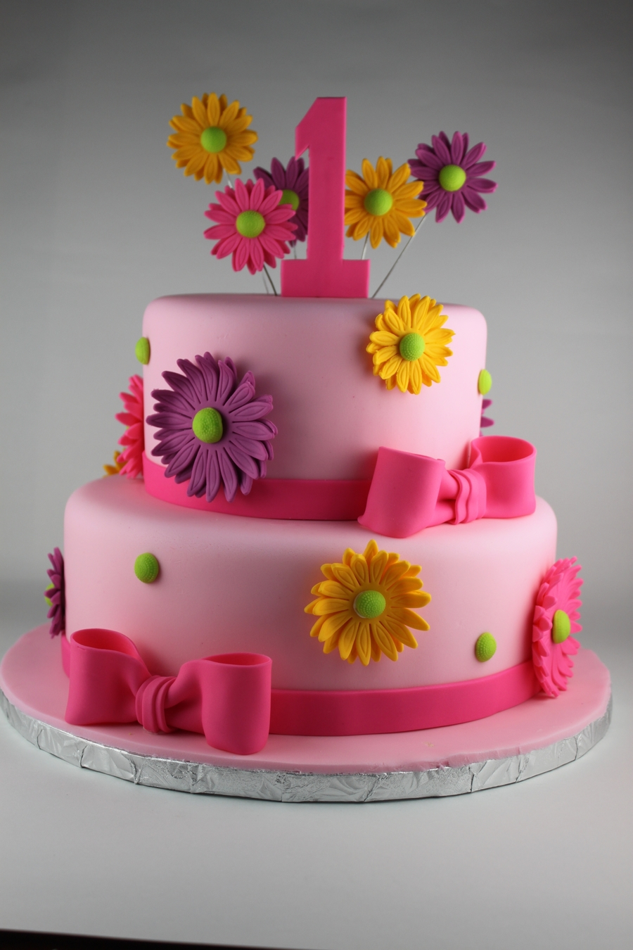 Girly Birthday Cakes Girly First Birthday Cake Cakecentral