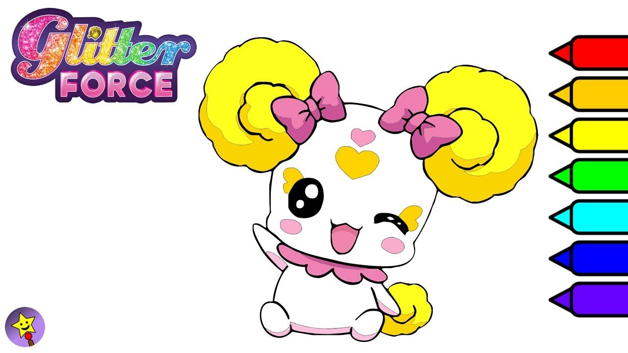 Glitter Force Coloring Pages Glitter Force Candy Coloring Book Page Smile Precure Candy Coloring