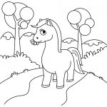 Grass Coloring Page Cute Horse Chewing Grass Coloring Page Free Printable Coloring Pages