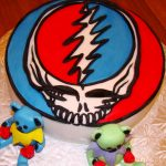 Grateful Dead Birthday Cake Grateful Dead Cake Covered With Fondant Cakes Pinterest Cake