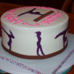Gymnastics Birthday Cake Cake Believe Gymnastics Girl Gymnastic Cakes And Party Ideas