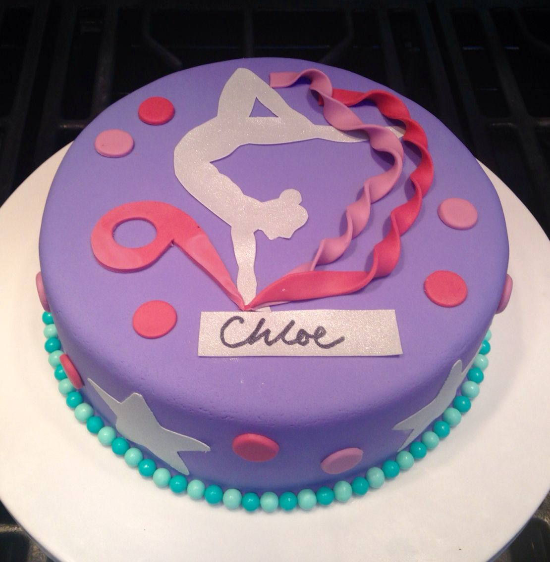 Gymnastics Birthday Cake Gymnastic Birthday Cake Sams 6th Birthday Cake Birthday Cake