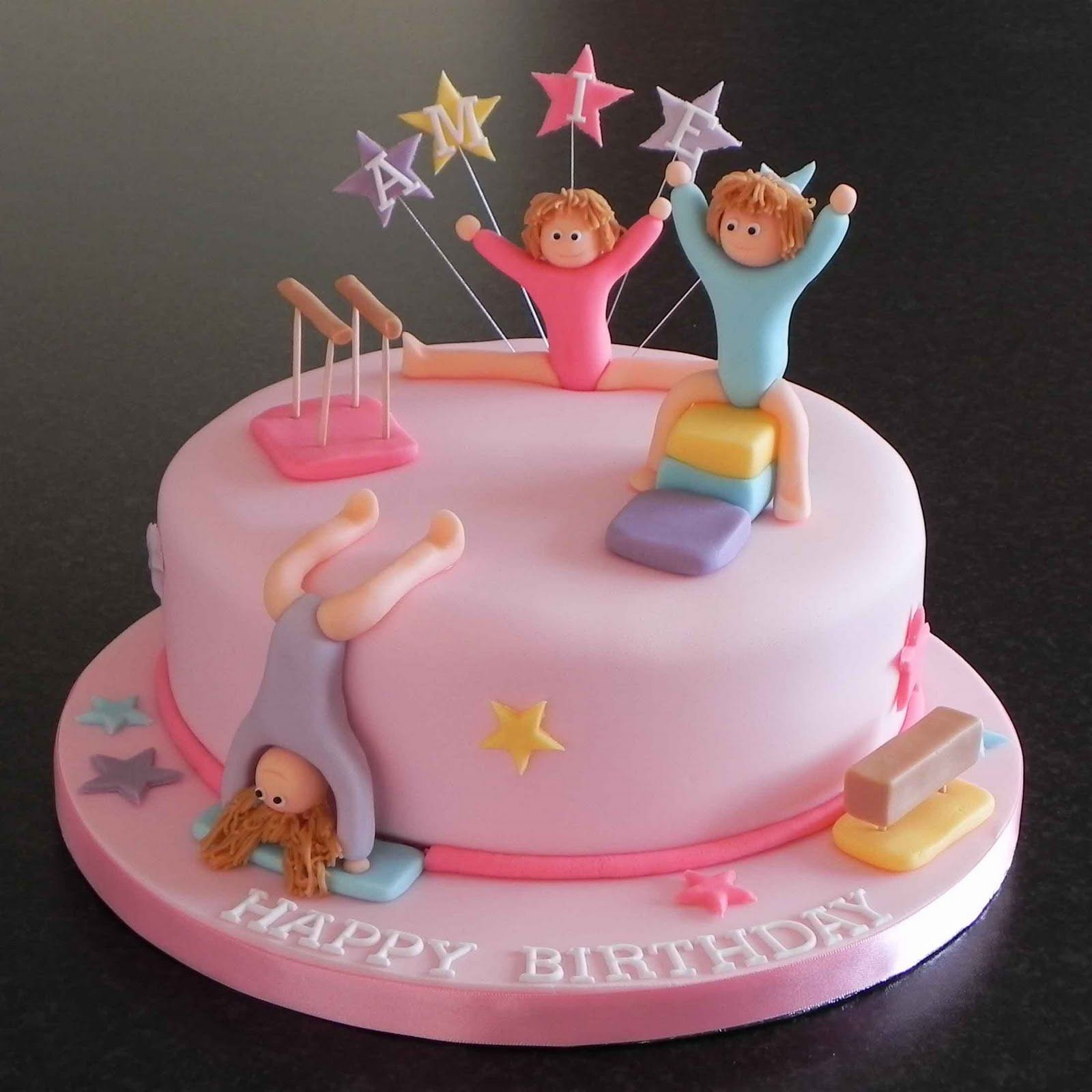 23+ Inspiration Image of Gymnastics Birthday Cake